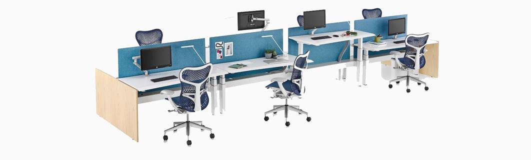 Benching-Height Adjustable Desking